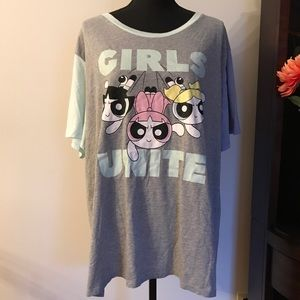 NWT POWER PUFF GIRLS T-SHIRT SHORT SLEEVE 3X